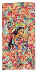 Dancing Of The Phoenix Hand Towel by Eva Campbell