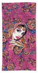 Bath Towel featuring the painting Kumari by Eva Campbell
