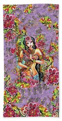 Bath Towel featuring the painting Kuan Yin by Eva Campbell