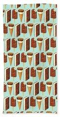 Ice Cream Novelties Pattern Hand Towel