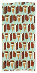 Ice Cream Novelties Pattern Bath Towel