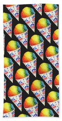 Snow Cone Pattern Bath Towel