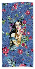 Bath Towel featuring the painting Gita by Eva Campbell
