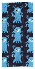 Undiscovered Blue Cute Sea Creature Hand Towel