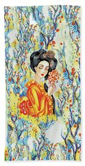 Bath Towel featuring the painting Harmony by Eva Campbell