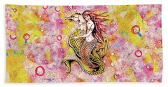 Black Sea Mermaid Hand Towel