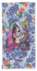 Scheherazade's Bird Hand Towel by Eva Campbell