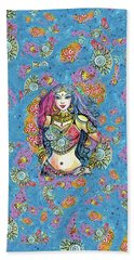 Bath Towel featuring the painting Kali by Eva Campbell