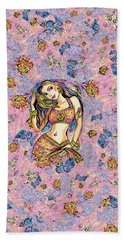 Bath Towel featuring the painting Karishma by Eva Campbell