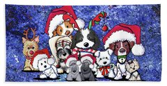 Kiniart Christmas Party Hand Towel