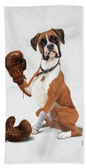 The Boxer Wordless Hand Towel