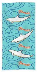 Hand Towel featuring the digital art Florida Dolphin Print by Methune Hively