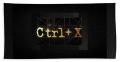 Bath Towel featuring the digital art Control X - Cut by Serge Averbukh