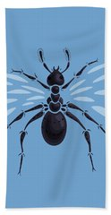Abstract Winged Ant Bath Towel