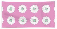 Hand Towel featuring the digital art White Flowers by Elizabeth Lock