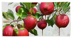Melting Apples Hand Towel by Ivana Westin