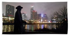 Austin Hike And Bike Trail - Iconic Austin Statue Stevie Ray Vaughn - One Hand Towel