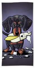 Dapple Doxie Destroyer Hand Towel