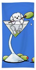 Maltese Martini Bath Towel