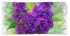 Watercolor Lilac Hand Towel