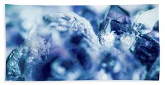 Hand Towel featuring the photograph Amethyst Blue by Sharon Mau