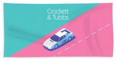 Crockett And Tubbs Retro 80s Bath Towel