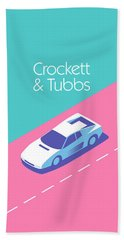 Crockett And Tubbs Retro 80s Bath Towel