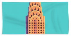 Chrysler Building - Cyan Bath Towel