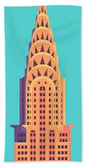 Chrysler Building - Cyan Hand Towel