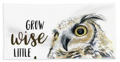 Grow Wise Little Owl Hand Towel