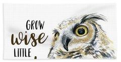 Grow Wise Little Owl Bath Towel