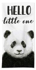 Baby Panda Hello Little One Nursery Decor Hand Towel