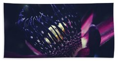 Bath Towel featuring the photograph Passiflora Alata - Winged Stem Passion Flower - Ruby Star - Ouva by Sharon Mau