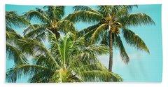 Coconut Palm Trees Sugar Beach Kihei Maui Hawaii Bath Towel by Sharon Mau