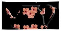 Hibiscus Pattern Teapot Bath Towel