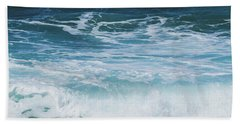 Ocean Waves From The Depths Of The Stars Hand Towel by Sharon Mau