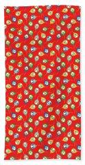 Colorful Circus Clown Balloons  Bath Towel