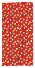Colorful Circus Clown Balloons  Bath Towel