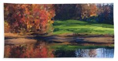 Autumn By Water Hand Towel