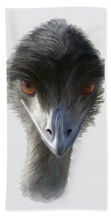 Suspicious Emu Stare Hand Towel