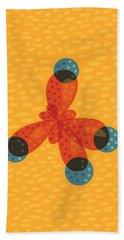 Orange Methane Molecule Bath Towel