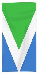 Official Vegan Flag Hand Towel