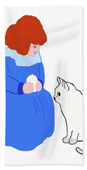 Pussycat, Pussycat By Mother Goose Hand Towel