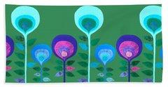 Space Flowers Bath Towel