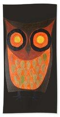Give A Hoot Orange Owl Hand Towel
