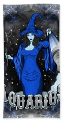 The Water Bearer Aquarius Spirit Hand Towel