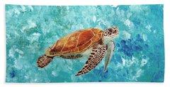 Turtle Swimming Hand Towel