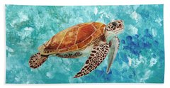 Turtle Swimming Hand Towel