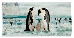 Emperor Penguin Family Hand Towel