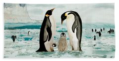 Emperor Penguin Family Bath Towel